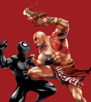 God of War VS Black Spidey by adipatijulian