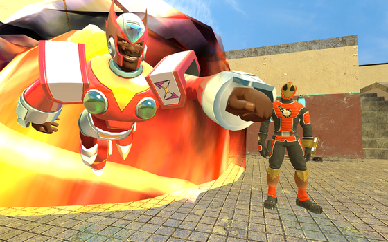 (Request: Apoc Series) Apoc and Captain Spark by TheChaosLord977