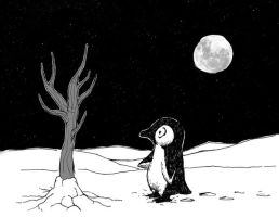 Lonely penguin no.2 by Hoed