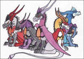 TFA Seeker Dragons by spyroandcynder182