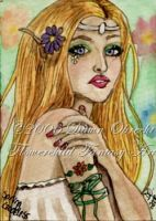 Spring Goddess - ACEO by jenely