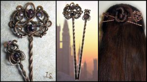 Set of hairpins by JSjewelry