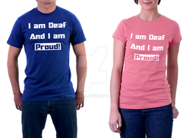 Deaf T-shirt 'color' by SpiderZed