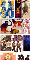 Sketchdump time! by SnowontheRadio