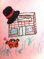 Give a spink a hat and he's a happy fellow by magicia