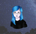 Blue-haired emo girl idk by ThomsonX