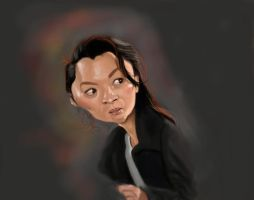 Michelle Yeoh Sketch by DoodleArtStudios