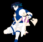me and sasuke by zarla52