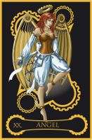 Steampunk tarot of the Angel by flamarahalvorsen