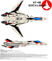 VF-19 Excalibur by bagera3005