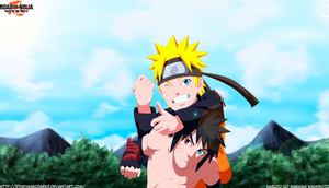 Naruto And Menma Happy by IITheYahikoDarkII