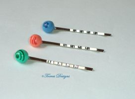 Zelda Wind Waker Pearls Hair Pins Hand Sculpted by TorresDesigns