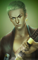 Roronoa Zoro (One Piece) by SweeetRazzbery