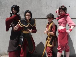 Anime Expo 2012 - Day 1: Mai, Azula, Zuko, Ty Lee by hikaridemon