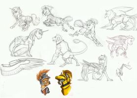 MLP Sketchdump- Armor by Earthsong9405
