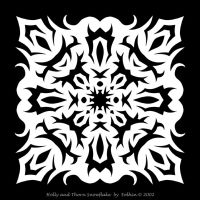 Holly and Thorn Snowflake by Eolhin