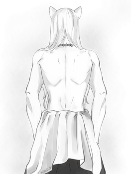 Inuyasha's Back/Shoulders study by MariaAart