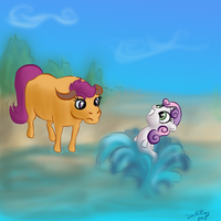 Kallisti III Encounter at the Waterhole by DeathPwny