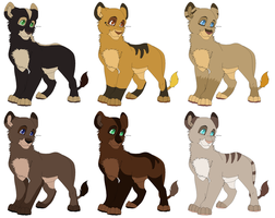 Female Cubs Adoptables CLOSED by MikasAdoptables