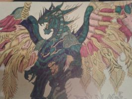 Bahamut: Lord Of The Dragons by WillOTheWhisp