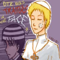 Request: DTK and Justin Law by KirbyMei