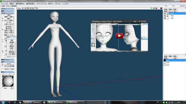 Modelling a head tutorial -VIDEO- by MMD-MCL