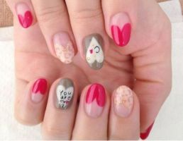 you are my love nailart by Madhurupa