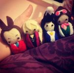 Ace Attorney felt dolls by magical-bra