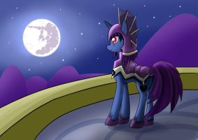 watching the moon by roshichen