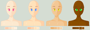 Skin Tone Palettes by Pinlicous-Bases