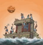 GIANT SQUID - Minoans LP cover art by aaronjohngregory