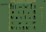 The Alien Lifecycle Evolution Infographic by mauricem