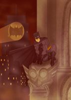 The Dark Knight Perched by tarunbanned
