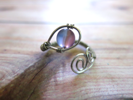 Purple Wire Wrapped Ring - Adjustable by lovebirdcreations