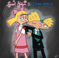 Sweet Helga and Dark Arnold by KasuKAPL
