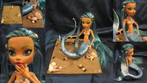 Ianthe the mermaid, Monster high custom by assassin-kitty