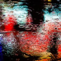 Rain in Puddle by christafaith