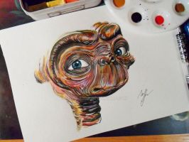 E.T. (The Extra-Terrestrial) by MarinaGor