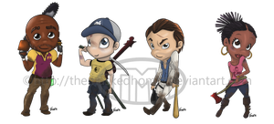 Left 4 Dead 2 Chibi set by TheMaskedHomie