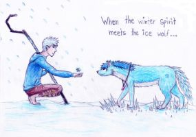'Trust me, little ice wolf ...' by Moonyasha93