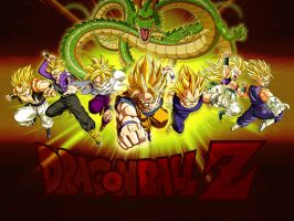 Wallpaper Dragon Ball Z Super Saiyans by Dony910