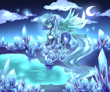 MLP oc sapphirecresent by AquaGalaxy