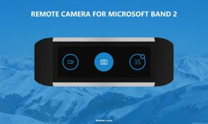 Remote Camera for Microsoft Band 2 - Concept by armend07
