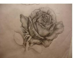 rose drawing by CHICANOCHOP