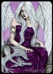 ACEO -- Dragon Angel by ElvenstarArt
