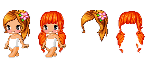 Fantage Custom Hair ~ Lovely Spring / Orange Tails by Fantage-CustomMaker