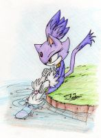Blaze by the water by Feniiku