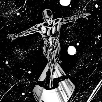Fast painting practice (Jan 11 2017) Silver Surfer by DCT66