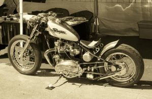 Triumph Bobber 1 Sepia by StallionDesigns