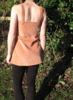 Cordroy Orange Tunic - Back by sewn-by-honeybirds